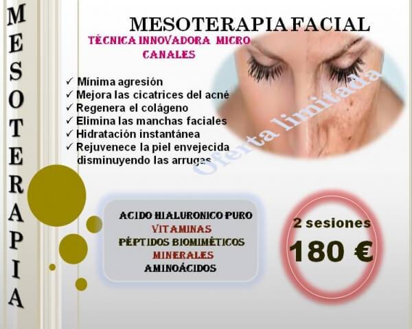 Mesoterapia facial con �cido hialuronico puro
