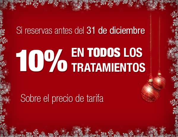 Navidad: 10% descuento en todos los tratamientos