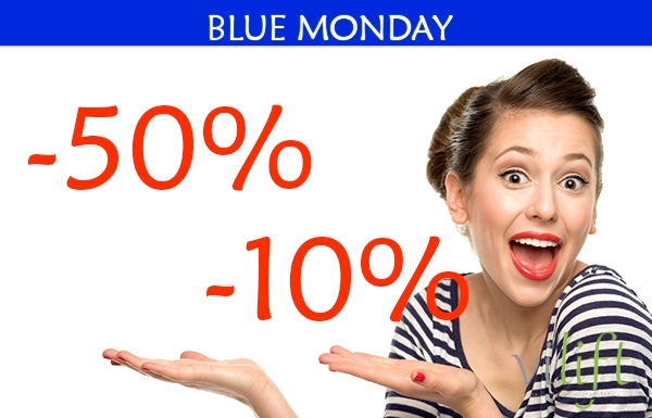 BLUE MONDAY HASTA EL 50%