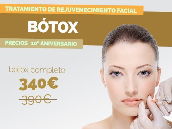 Botox completo por sólo 340€ (50 unidades)