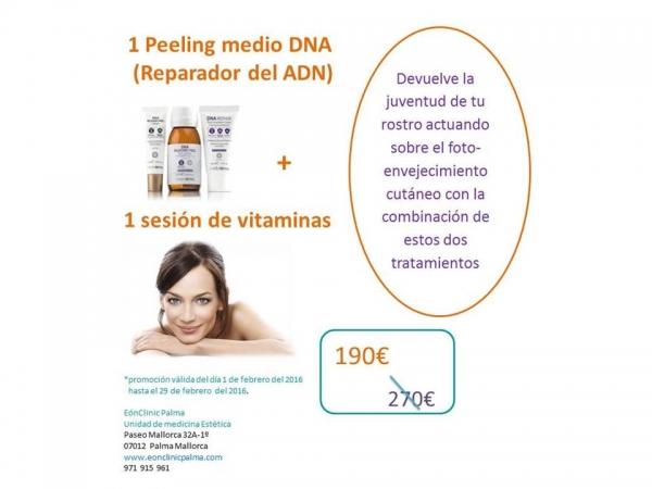 peeling medio reparador del ADN y sesión de mesoterapia facial con vitaminas 190 euros