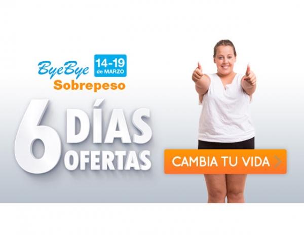 Bye Bye Sobrepeso: 6 días, 6 ofertas