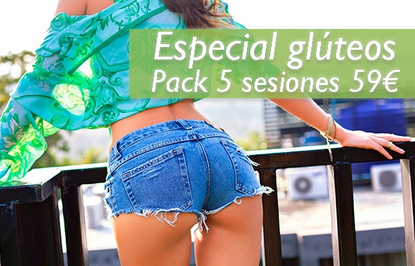 Especial glúteos Pack 3 sesiones 59€
