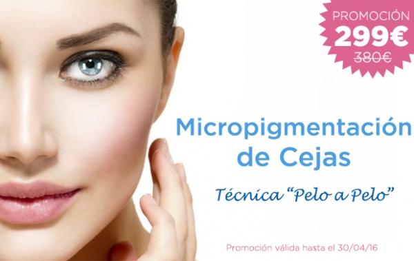 Micropigmentación de Cejas: 299€