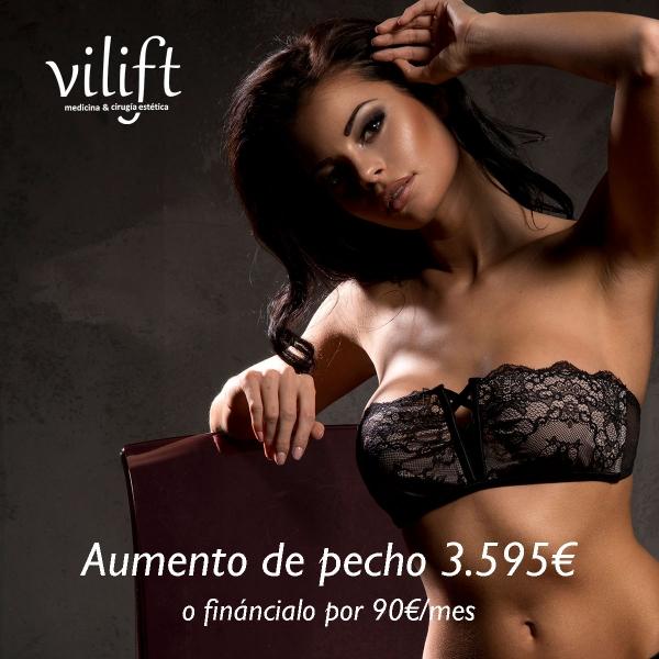 AUMENTO DE PECHO 3.595€ o fináncialo por 90€/mes  en TodoEstetica.com