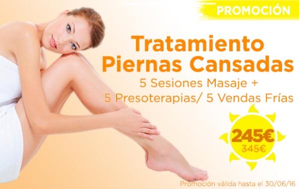 Promoción Tratamiento Piernas Cansadas en TodoEstetica.com