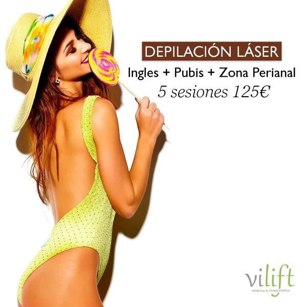 DEPILACIÓN LÁSER➡Ingles + Pubis + Zona Perianal  🔸5 SESIONES 125€🔸
