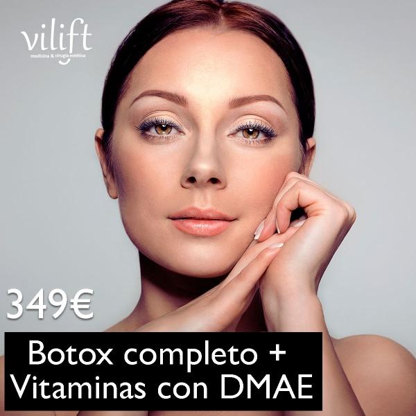 Botox completo + Vitaminas con DMAE (efecto tensor) 349€ en TodoEstetica.com