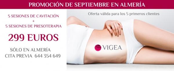 5 Sesiones de Cavitación + Presoterapia en Almería