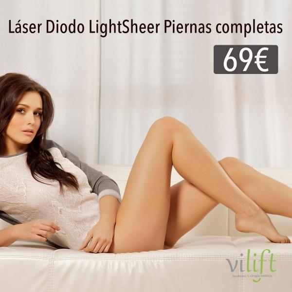 Depilación LÁSER DIODO LIGHSTHEER piernas completas ➡ 69 €