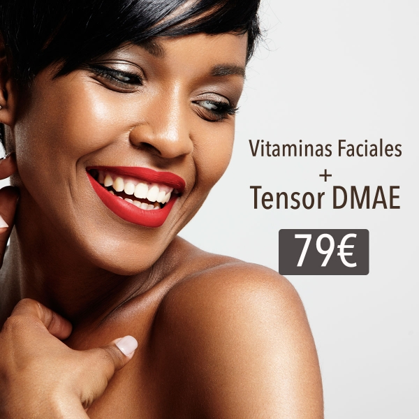 Vitaminas faciales inyectadas+ Tensor DMAE 79€