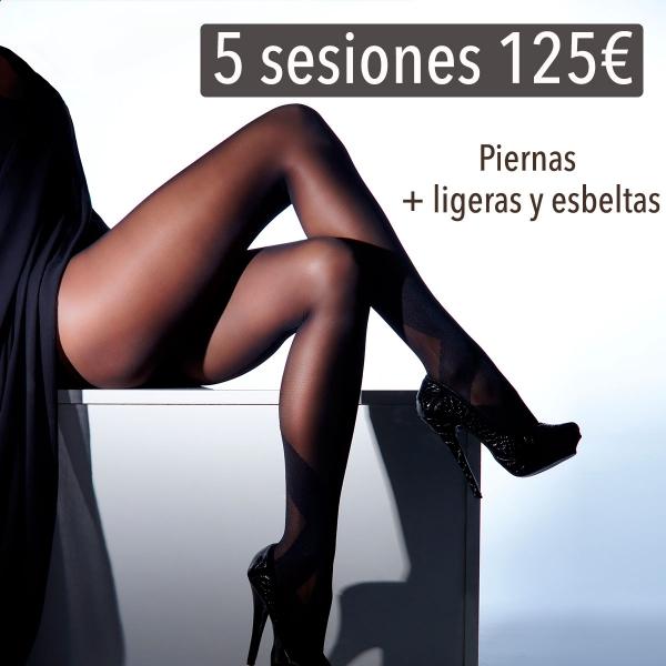 PIERNAS LIGERAS Y ESBELTAS 5 SESIONES 125€ 🌺