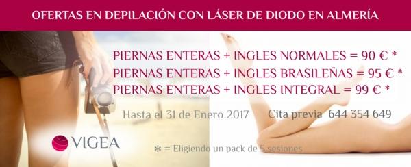 Ofertas en Depilación Láser en Almería