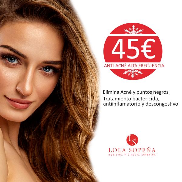 Tratamiento anti acné alta frecuencia 45€/sesión