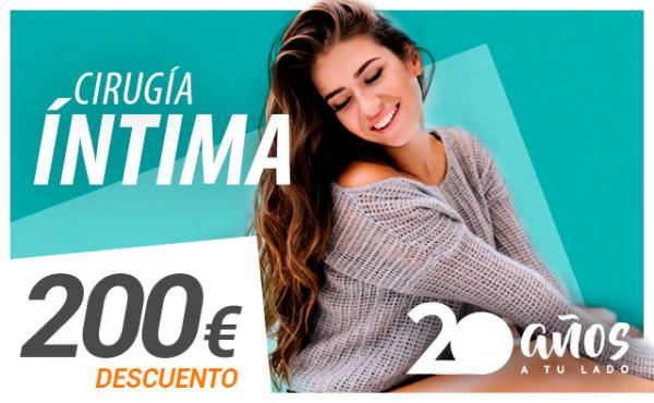 200€ de descuento en Cirugía Íntima