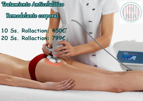Tratamiento anticelulítico, remodelante corporal Rollaction