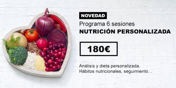 Nutrición personalizada en TodoEstetica.com
