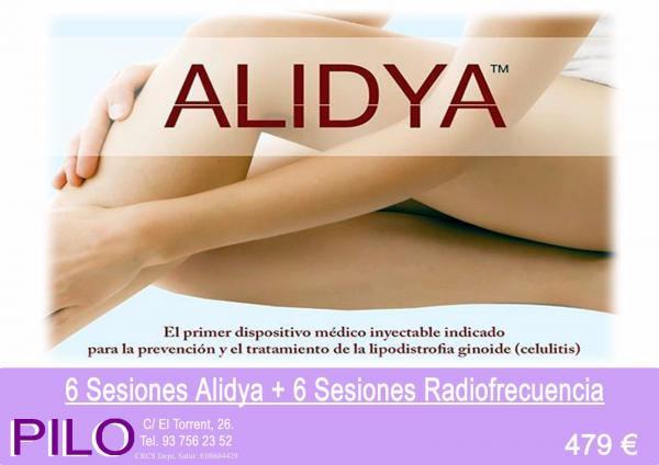 Promo Anticelulítico: 6 Sesiones Alidya + 6 Sesiones Radiofrecuencia: 479€
