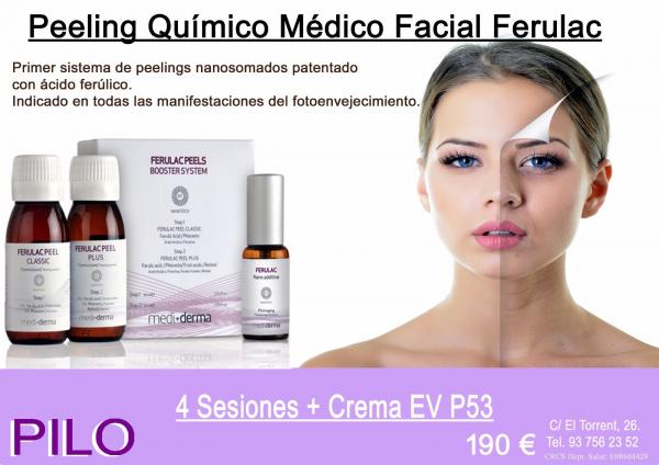 4 Sesiones peeling químico Ferulac + Crema Elisabeth Vargas P53: 190€
