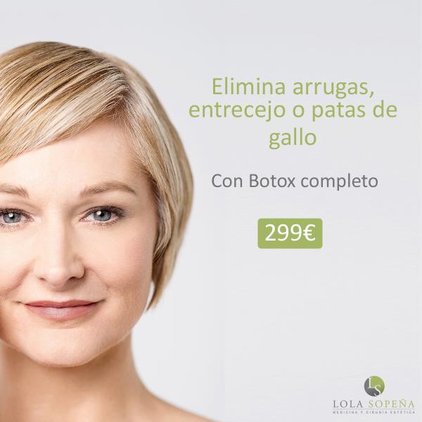 Botox completo 299 € + Vitaminas faciales inyectadas de Regalo