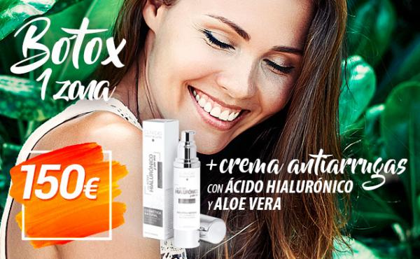 OFERTA: 1 Zona de Botox + Crema en TodoEstetica.com