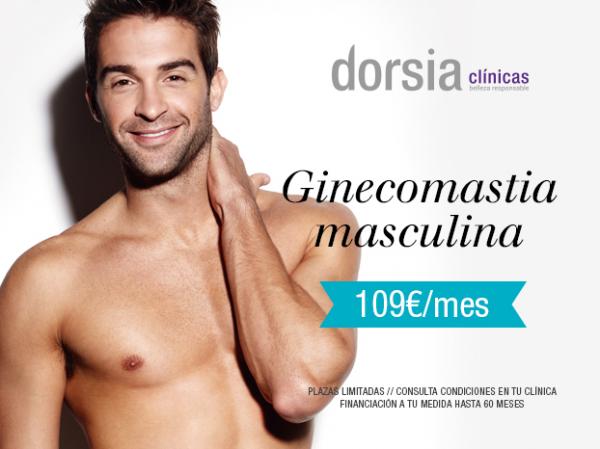 Ginecomastia masculina 109€/mes