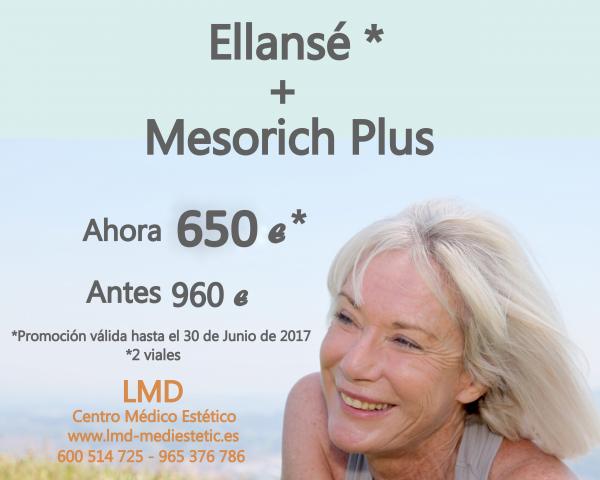 Oferta especial mes de Junio: Ellansé (2 viales) + Mesorich Plus.