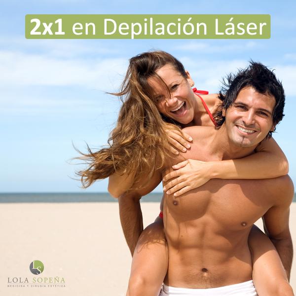 2 X 1 en Depilación láser