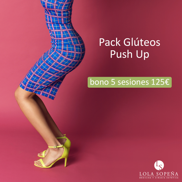 Glúteos Push Up 5 sesiones + 1 de regalo 125 €