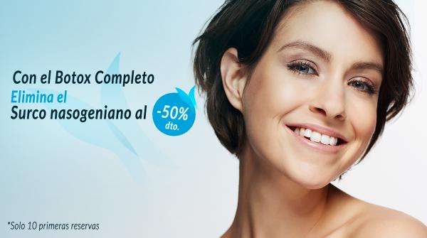 Elimina el surco nasogeniano con el Botox completo al 50%  en TodoEstetica.com