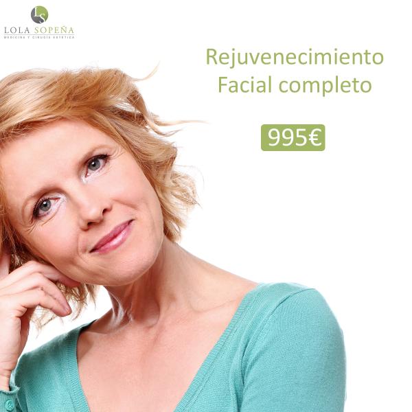 995 € Rejuvenecimiento facial completo - 10 años menos en una sola sesión