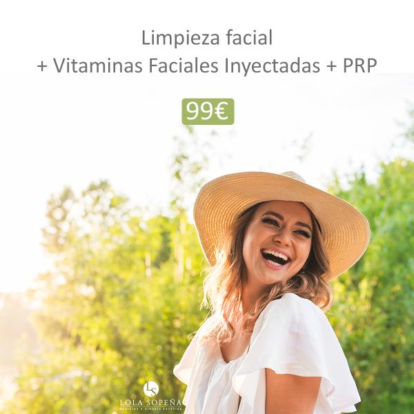 99 € limpieza facial + PRP + Vitaminas!