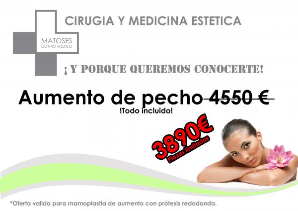 Aumento de pecho 3890 € - Todo incluido. Garantía Matoses en TodoEstetica.com
