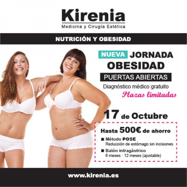 Jornada de Puertas Abiertas de Obesidad en KIRENIA en TodoEstetica.com