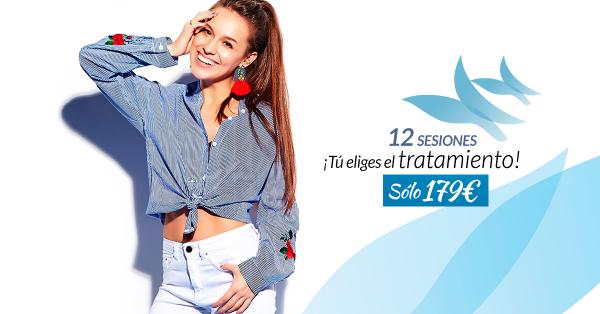 12 sesiones ¡Tu eliges el tratamiento! por tan solo 179€