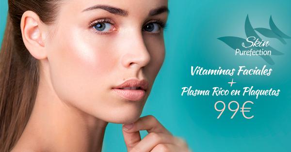 Vitaminas Faciales + Plasma Rico en Plaquetas 99€