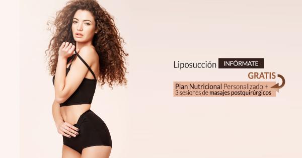 Con tu Liposucción, Plan Nutricional Personalizado + 3 sesiones de masajes postquirúrgicos GRATIS