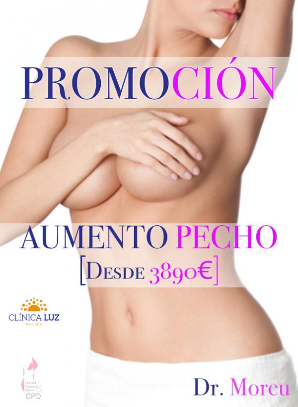 Promoción Aumento de Pecho desde 3890€