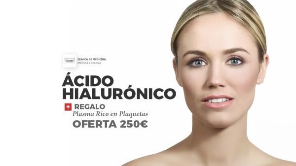1 VIAL DE ACIDO HIALURONICO CON RELALO DE 1 SESION DE PLASMA RICO EN PLAQUETAS.