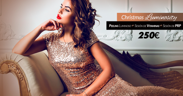 Christmas Luminosity Peeling luminoso + sesión de vitaminas + sesión de PRP - 250€