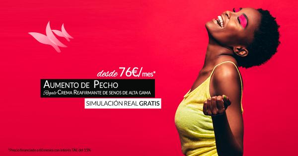 Aumento de pecho desde 76€/mes + REGALO Crema reafirmante de senos de alta gama