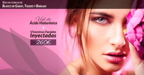 Vial de ácido hialurónico + vitaminas inyectadas 260€