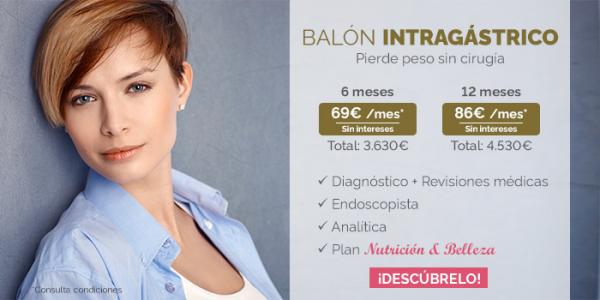 Balón intragástrico 6 Meses, adelgazar más fácil sin cirugía
