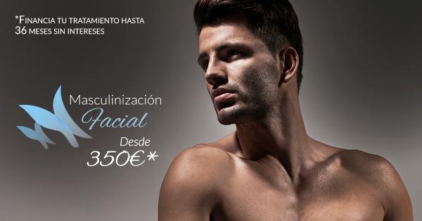 Masculización facial desde 350€