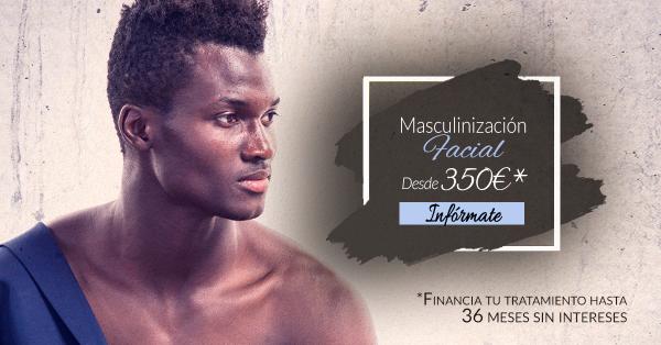 Masculinización facial desde 350€