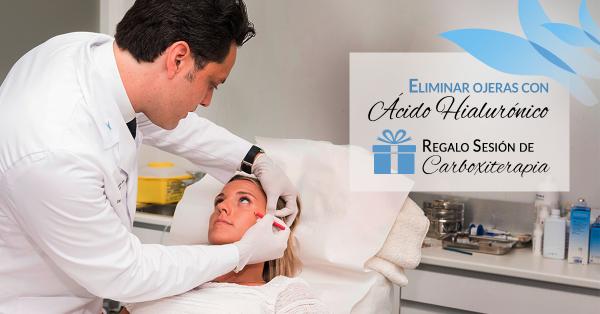Eliminar ojeras con ácido hialurónico + Regalo sesión carboxiterapia 300€