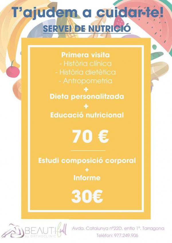 Promoción Dietista y Nutrición  en TodoEstetica.com