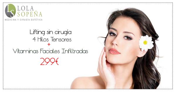 299€ Lifting sin cirugía 4 hilos tensores espiculados + Vitaminas Faciales Infiltradas en TodoEstetica.com