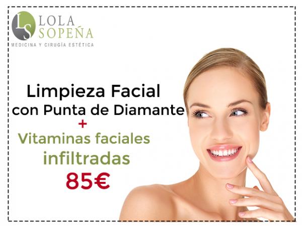 85€ Limpieza Facial con punta de diamante + Vitaminas faciales infiltradas en TodoEstetica.com