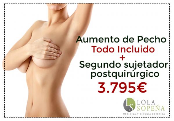 Aumento de pecho + Sujetador Postquirúrgico